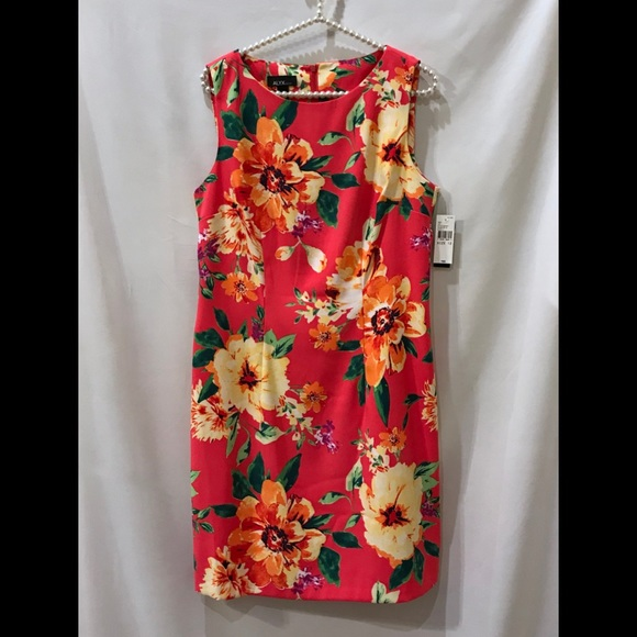 d2de70733880b Alyx Sleeveless Floral Sheath Dress NWT